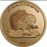 Сохраним наш мир — Дикобраз — Конго — золотая монета