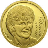 Леди Диана (1961-1997) — Острова Кука — памятная золотая монета