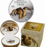 Гигантский кокосовый краб — Остров Питкерн — 2013 — серебряная монета с запахом кокоса
