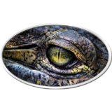 Глаз крокодила — 2013 — Ниуэ — серебряная монета с высоким рельефом