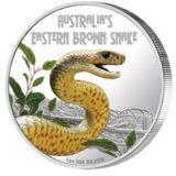 Опасные животные — Австралийская змея — 2010 — Тувалу — серебряная монета