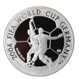 Кубок мира по футболу ФИФА 2006, Казахстан, 100 тенге — серебряная монета