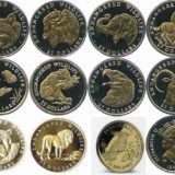 Дикие животные — Острова Кука — 1990-1992 — набор из 12 золотых монет
