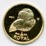 Ангел любви — Гибралтар — золотая монета