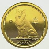 Колли (собака) — Гибралтар — золотая монета