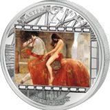 Шедевры мирового искусства — Леди Годива (Джон Коллер) — Острова Кука — серебряная монета