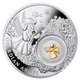 Ангел-хранитель — Ниуэ — 2014 — серебряная монета с позолотой