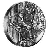 Боги Олимпа — Аид — Тувалу — 2014 — серебряная монета с высоким рельефом без гурта