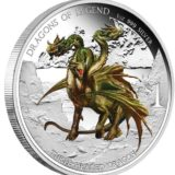 Драконы из легенд: Трехглавый дракон — Тувалу — 2013 — серебряная монета