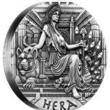 Богини Олимпа — Гера — Тувалу — 2015 — серебряная монета с высоким рельефом без гурта
