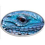 Голубая игуана — 2012 — Ниуэ — серебряная монета с высоким рельефом