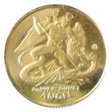 Ангел, сражающийся с драконом — Остров Мэн — золотая монета
