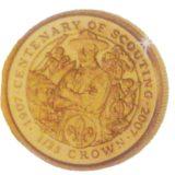 Столетие скаутинга (скаутского движения) — Остров Мэн — золотая монета