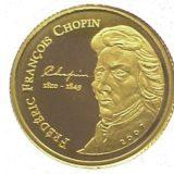 Фредерик Шопен — Кот д'Ивуар — памятная золотая монета