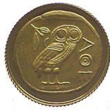 Сова Афин (талисман Олимпийских Игр 2004 года) — Конго — золотая монета