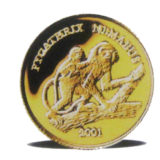 Обезьянки — Лаос -золотая монета