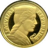 Мильда — Латвийская республика — Латвия — золотая монета