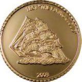 Корабль «Flying Cloud» — Либерия — золотая монета