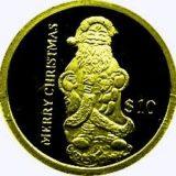 Дед Мороз — Либерия — золотая монета