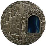 Искусство кристаллов (Crystal Art) — Тайны замка Лихтенштейн — Ниуэ — серебряная монета с агатом