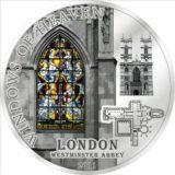 Небесные окна: Вестминстерское аббатство (Лондон) — Острова Кука — 2011 — серебряная монета
