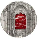 Искусство Тиффани (Tiffany Art) 2011 Мануэлин — Палау — серебряная монета с Тиффани