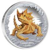Знаменитые рептилии — Молох — Тувалу — 2014 — серебряная монета