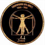 Леонардо да Винчи — Монголия — золотая монета