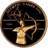 Стрельба из лука (Олимпиада-1996) — Монголия — золотая монета