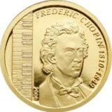 Фредерик Шопен — Монголия — памятная золотая монета