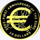 Годовщина общей европейской валюты (евро) — Науру — золотая монета