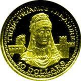 Троя: троянское золото — Науру — золотая монета