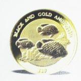 Черная и золотая рыбы-ангелы — Ниуэ — золотая монета