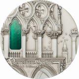 Искусство Тиффани (Tiffany Art) 2013 Венецианская готика — Палау — серебряная монета с Тиффани