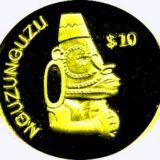 Божество Нгузунгузу — Соломоновы острова — золотая монета