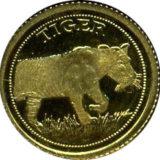 Тигр — Сомали — золотая монета