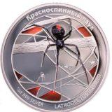 Красноспинный паук — Тувалу — 2011 год — серебряная монета