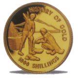 История золота — Танзания — золотая монета