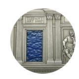 Искусство Тиффани (Tiffany Art) 2007 Ренессанс — Палау — серебряная монета с Тиффани