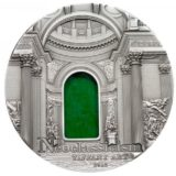 Искусство Тиффани (Tiffany Art) 2012 Неоклассицизм — Палау — серебряная монета с Тиффани
