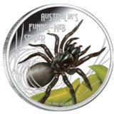 Опасные животные — Австралийский лейкопаутинный паук — 2012 — Тувалу — серебряная монета