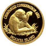 Шимпанзе — Уганда — золотая монета