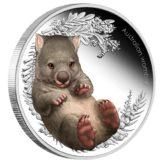 Детеныши животных Австралии: Вомбат — Австралия — 2013 — серебряная монета