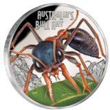 Опасные животные — Муравей-бульдог — 2015 — Тувалу — серебряная монета