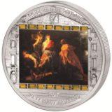 Шедевры мирового искусства — Бегство в Египет (Питер Рубенс) — Острова Кука — серебряная монета