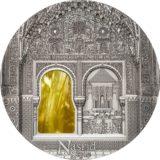 Искусство Тиффани (Tiffany Art) 2015 Стиль Насрид — Палау — серебряная монета с Тиффани
