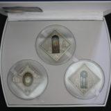 Святые окна — Палау — 2011 —  набор из 3 серебряных монет с вставками витражного стекла