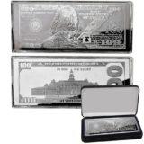 Банкнота 100 долларов США, Франклин — США — 2017 — серебряная монета (4 унции)