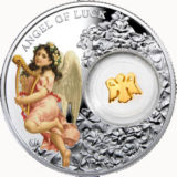Ангел удачи — Ниуэ — 2015 — серебряная монета с позолотой