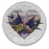 Любовь бесценна (две ласточки) — Ниуэ — серебряная монета